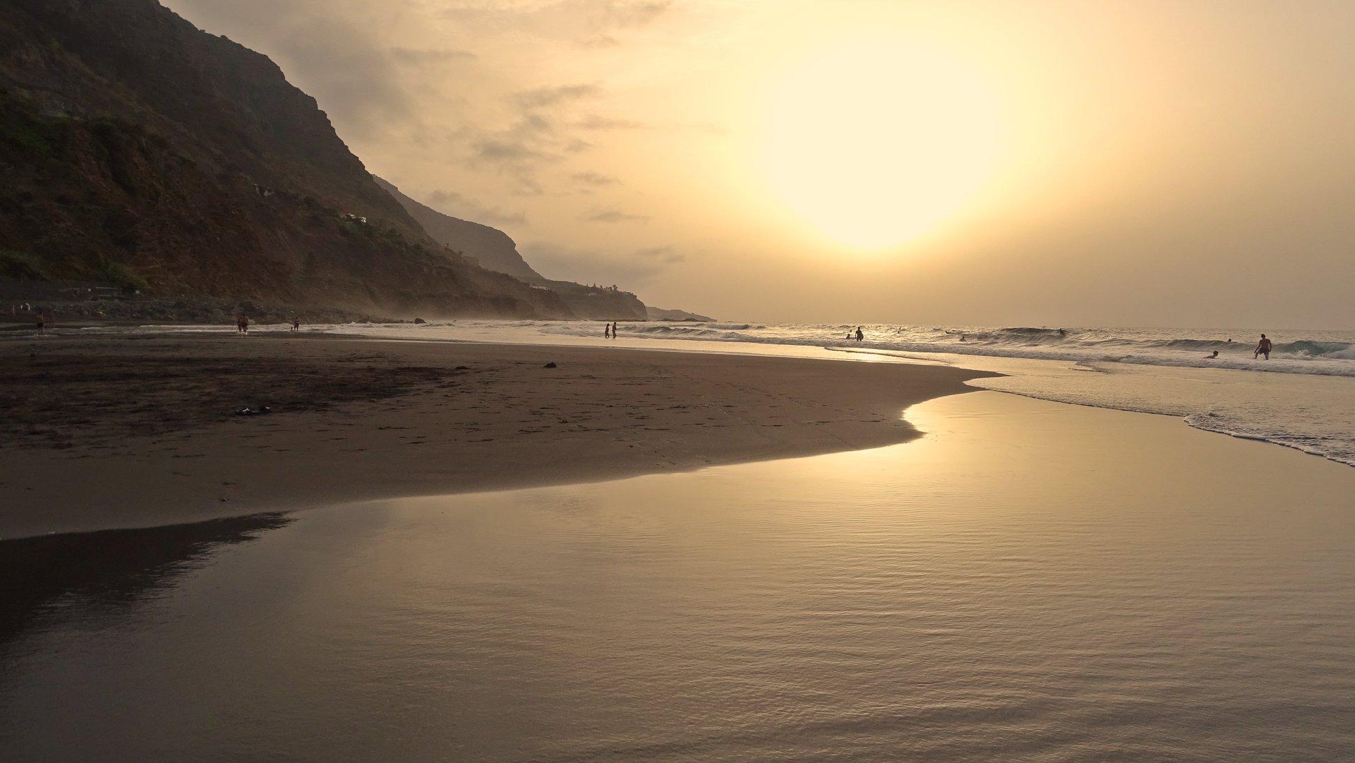 Atardecer en la playa del Socorro